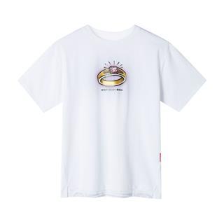 【地产大亨联名款】特步 专柜款 女子短袖针织衫 宽松休闲上衣981228012601