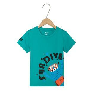 特步 男童短袖针织衫 19夏新款儿童中小童圆领休闲T恤681225019141