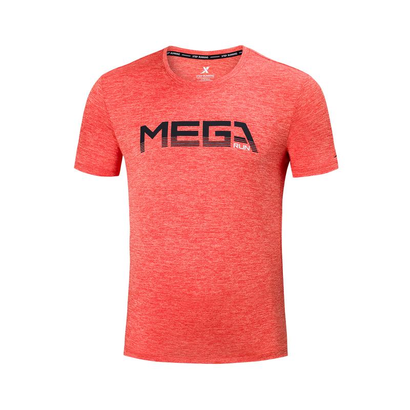 特步 专柜款 男子针织短袖 2019夏季新款针织透气休闲T恤衫981229012604