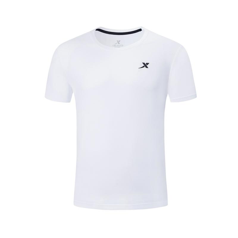 特步 专柜款 男子针织短袖 2019夏季新款宽松舒适休闲透气短袖男t981229012616