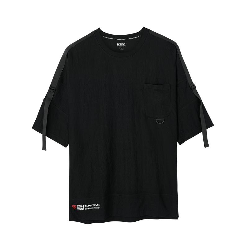 特步 专柜款 男子针织短袖 2019夏季新品舒适休闲时尚潮流透气981229012617