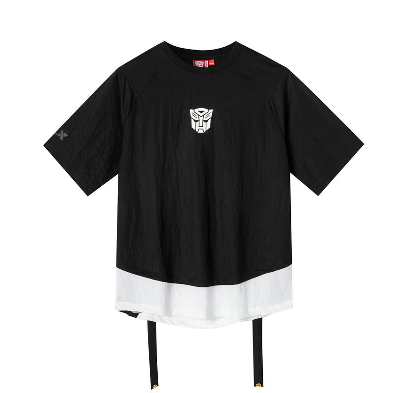 特步 专柜款 【变形金刚】男子新款潮流都市跨界时尚短袖T恤针织衫981229012619