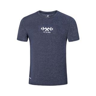 特步 专柜款 男子短袖针织衫 2019夏季轻薄透气运动休闲男装短装981229012714