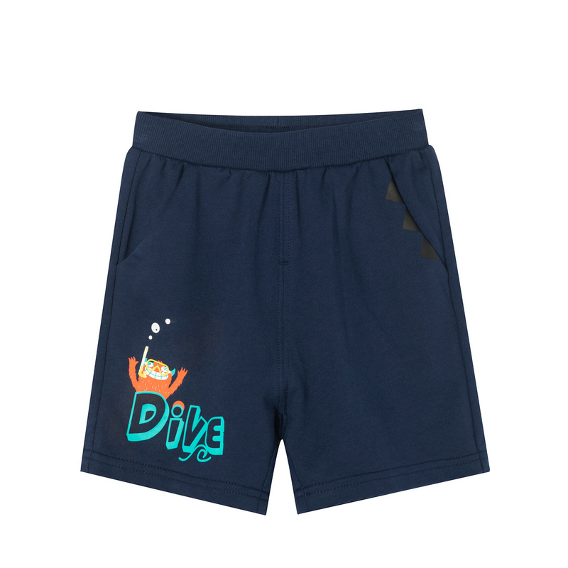 特步 男童针织短裤 19夏新款中小童儿童休闲裤681225609144
