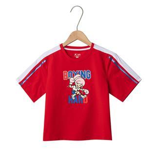 特步 女童短袖针织衫 19夏新款儿童中大童休闲卡通上衣681224019113