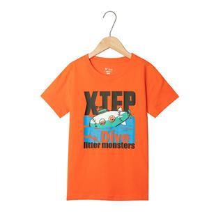 特步 男童短袖针织衫 儿童中小童卡通T恤681225019140