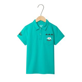 特步 男童短袖POLO衫 儿童中小童立领休闲短袖681225029138