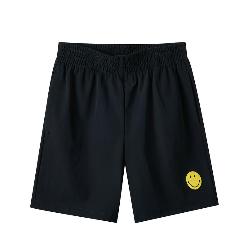 特步 男童针织短裤 19夏新款儿童中大童smiley系列五分裤881226609265