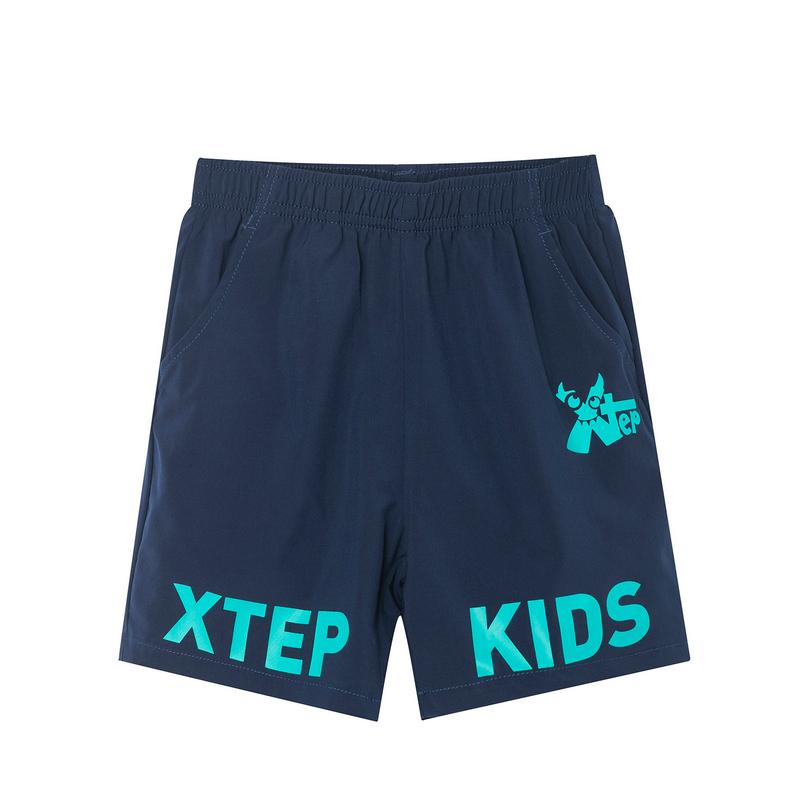 特步 男童梭织运动短裤 19夏新款儿童中小童休闲短裤681225609145