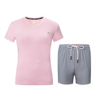 【两件套】特步 女子针织跑步套装 跑步舒适透气运动套装881228959236