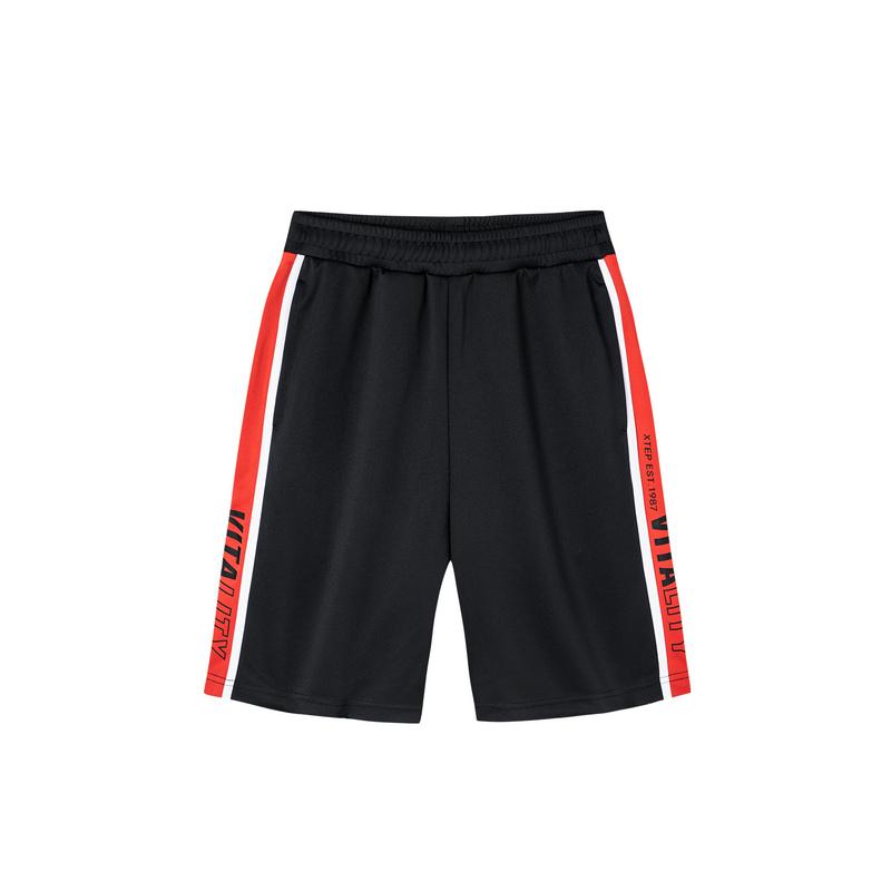 特步 男子针织短裤 19夏新款时尚潮流街头短裤881229609020