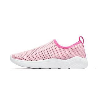 特步 男女童跑鞋 19夏新款儿童中小童一脚蹬运动鞋681216119285