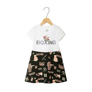特步 女童新款连衣裙  都市休闲时尚潮流可爱连衣裙681224939123