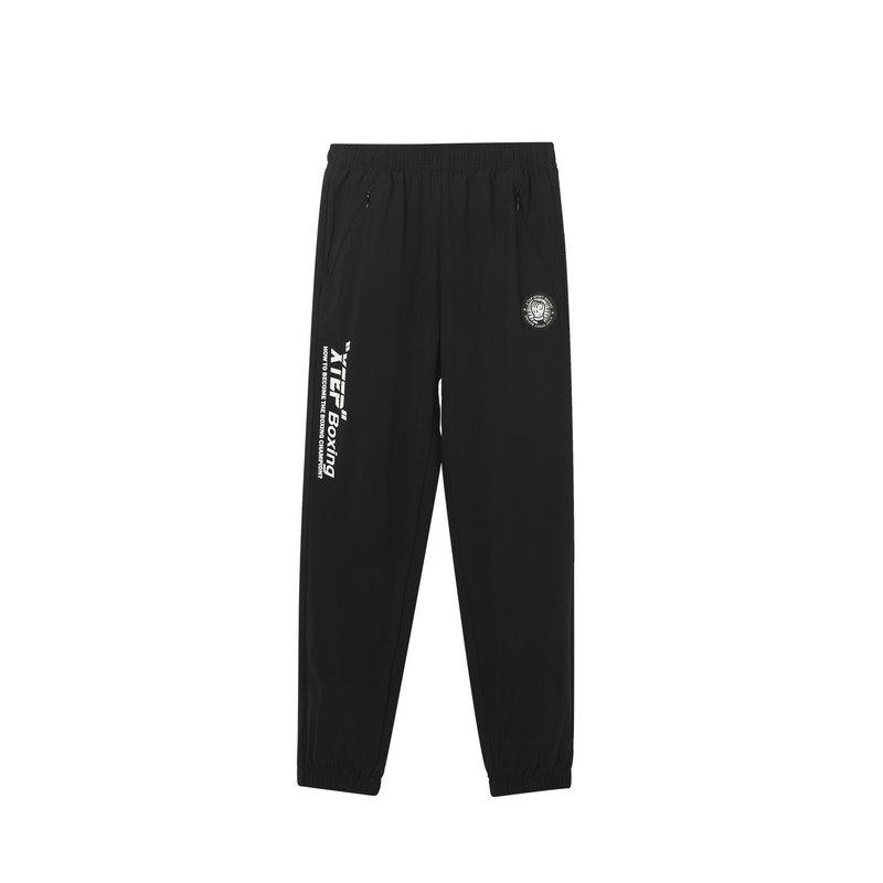 特步 男童梭织长裤 中大童新款舒适透气运动健身长裤681225669110