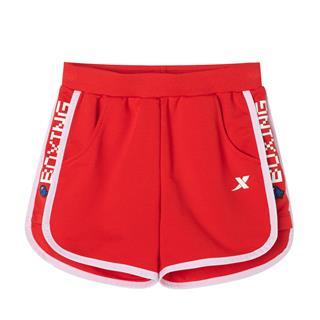 特步 女童运动短裤 夏季新款时尚百搭运动健身短裤681224609116