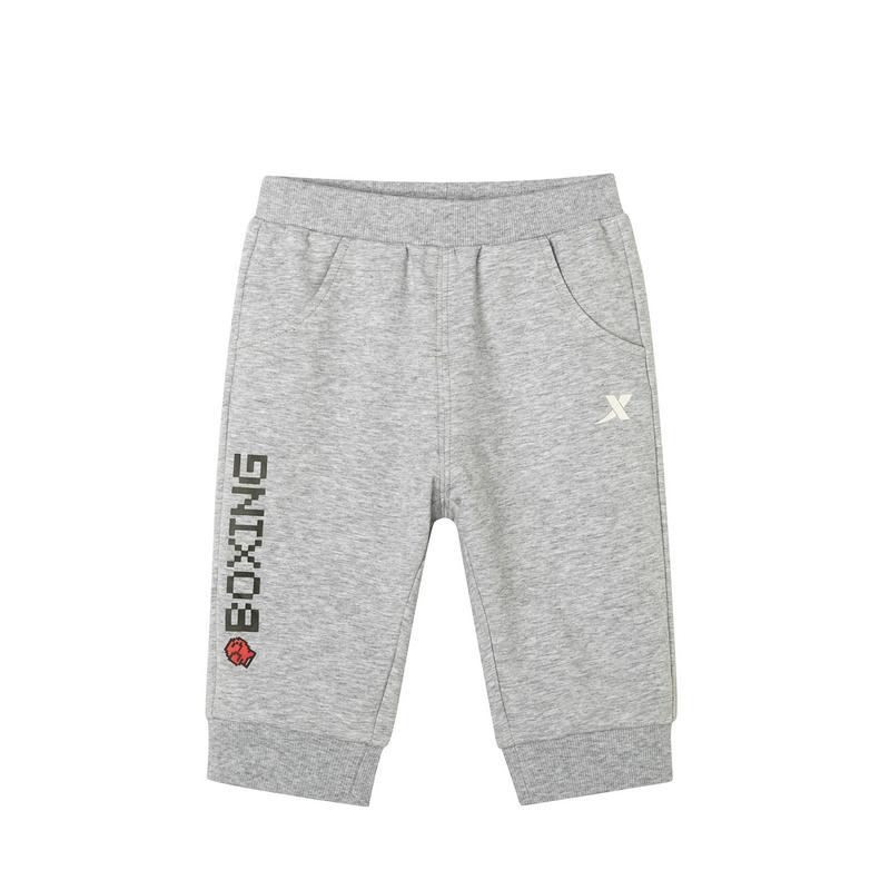 特步 女童都市针织七分裤 中小童新款舒适透气缩脚针织短裤681224629125