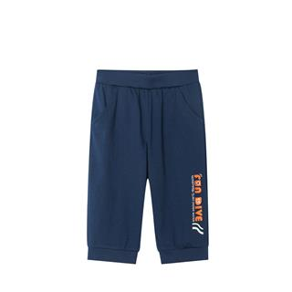 特步 男童舒适针织七分裤 中小童新款运动时尚缩脚针织短裤681225629143