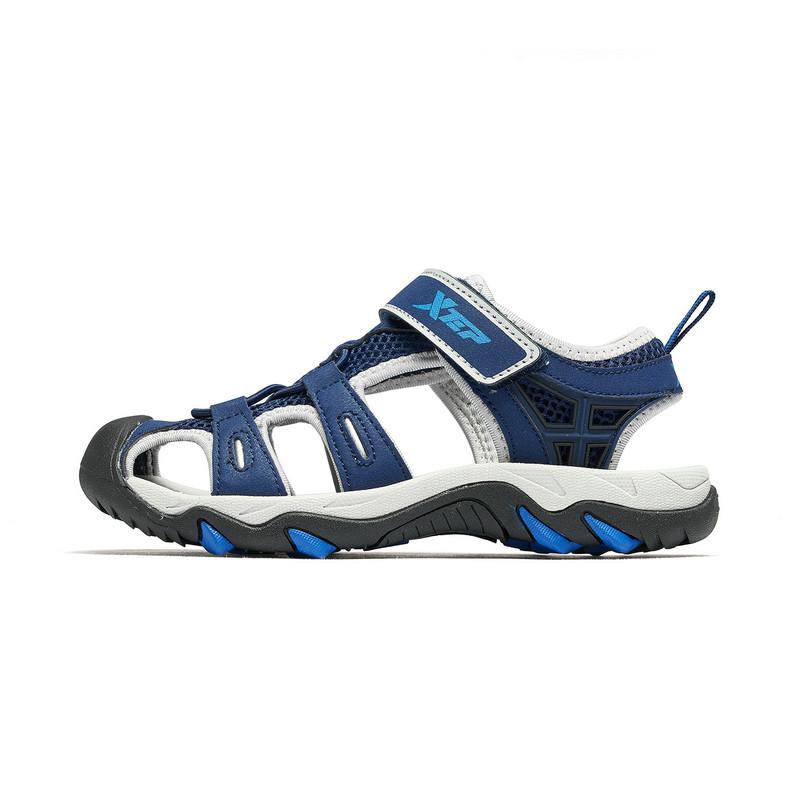 特步 男童沙滩鞋 19夏新款儿童中大童防滑舒适凉鞋681215509253