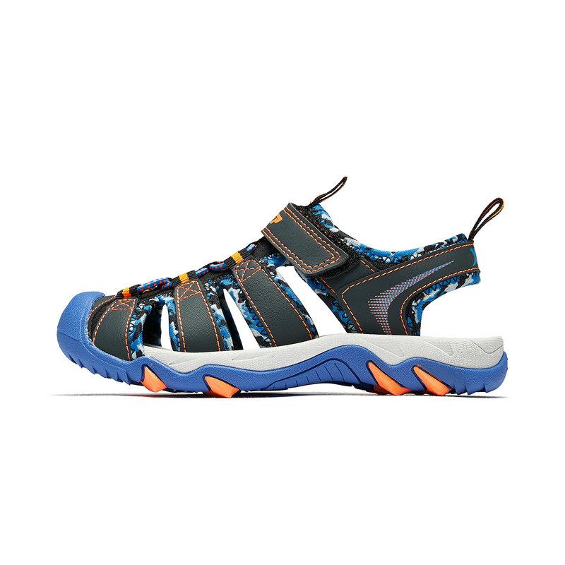 特步 男童沙滩鞋 19夏新款中大童儿童潮流包头软底鞋681215509231