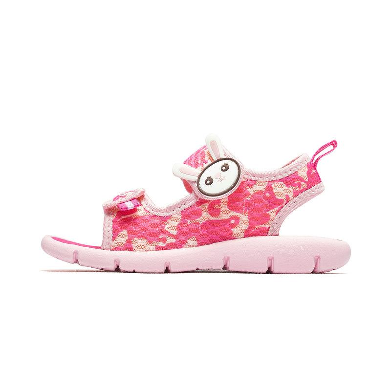特步 男女童沙滩鞋 19夏新款中小童儿童时尚凉鞋681216509261