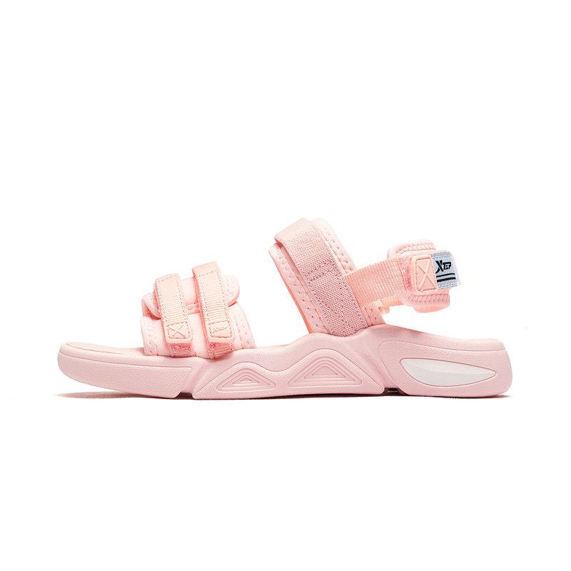 特步 女童沙滩鞋 2019夏季童鞋女童凉鞋韩版中大童软底沙滩鞋童鞋681214509252
