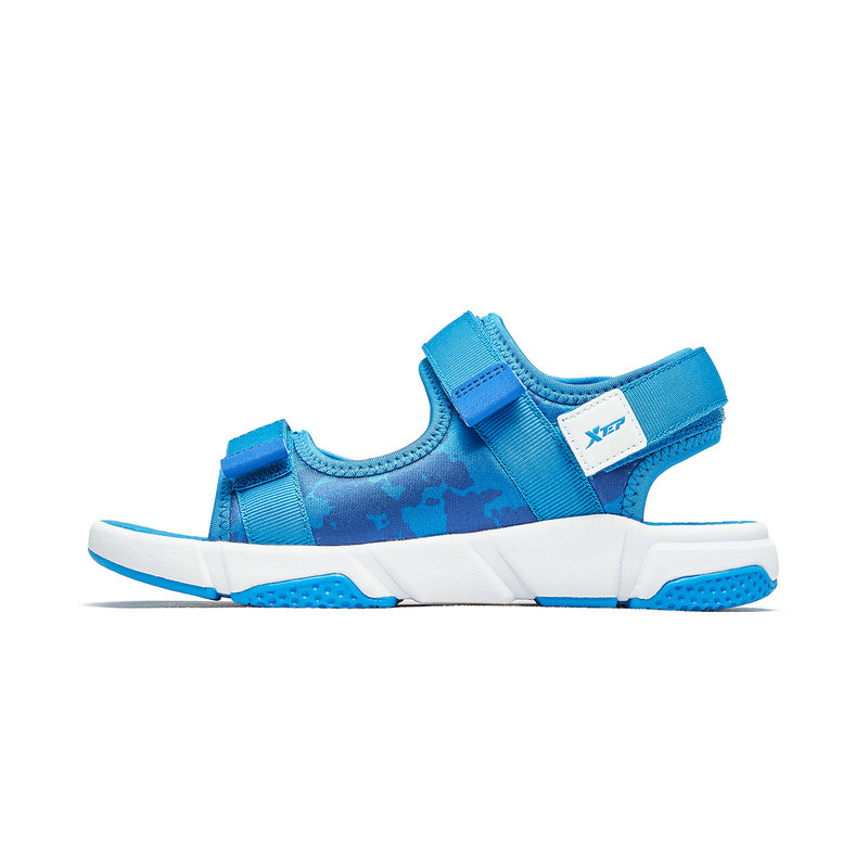 特步 男童沙滩鞋 2019夏季童鞋男童凉鞋小学生凉鞋中大童沙滩鞋681215509236