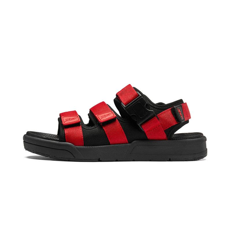 特步 男子凉鞋 19夏新款休闲沙滩鞋魔术贴潮流运动凉拖鞋881219509583
