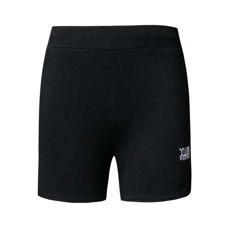 特步 女子针织短裤 19夏新款运动舒适健身跑步短裤881228609056