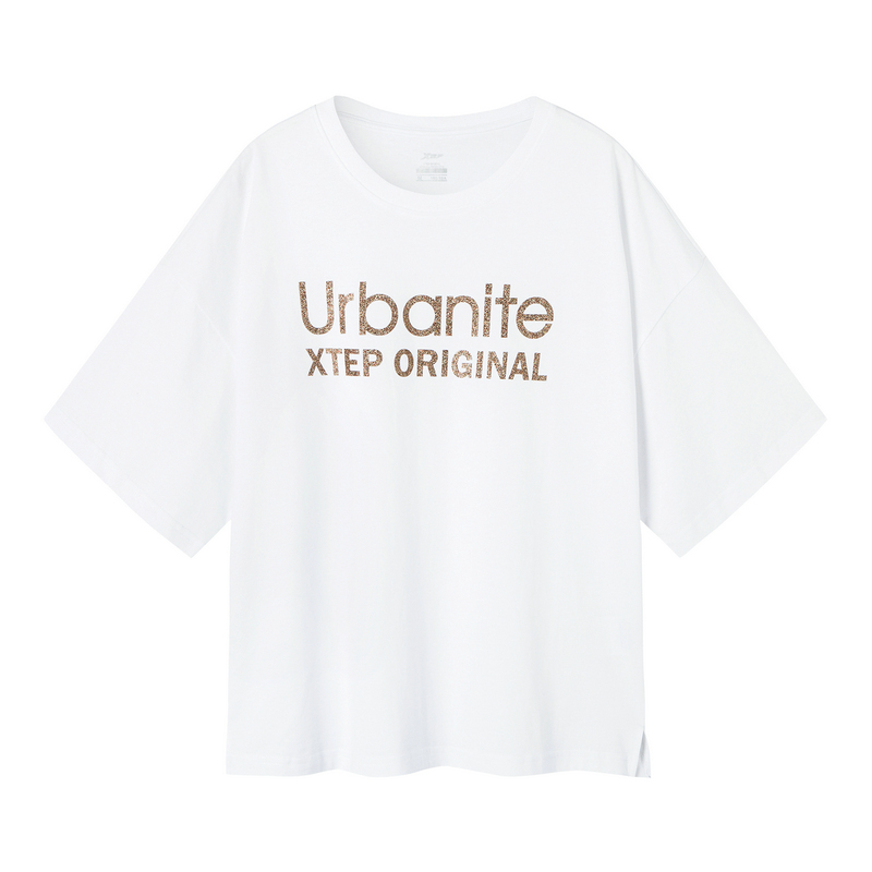 特步 女子短T恤 19夏新款时尚百搭宽松短袖881228019306