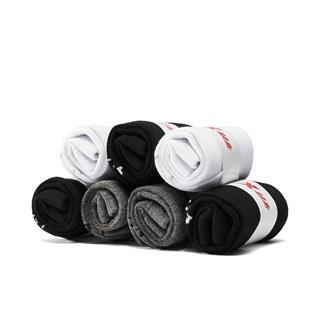 特步 男平板中袜七双装 舒适透气运动中袜881339559058