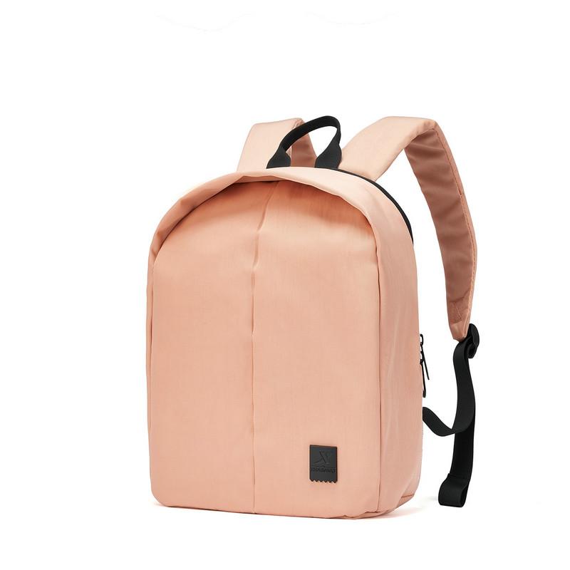 特步 女子双肩包 19新款纯色贝壳书包都市休闲时尚包881338119004