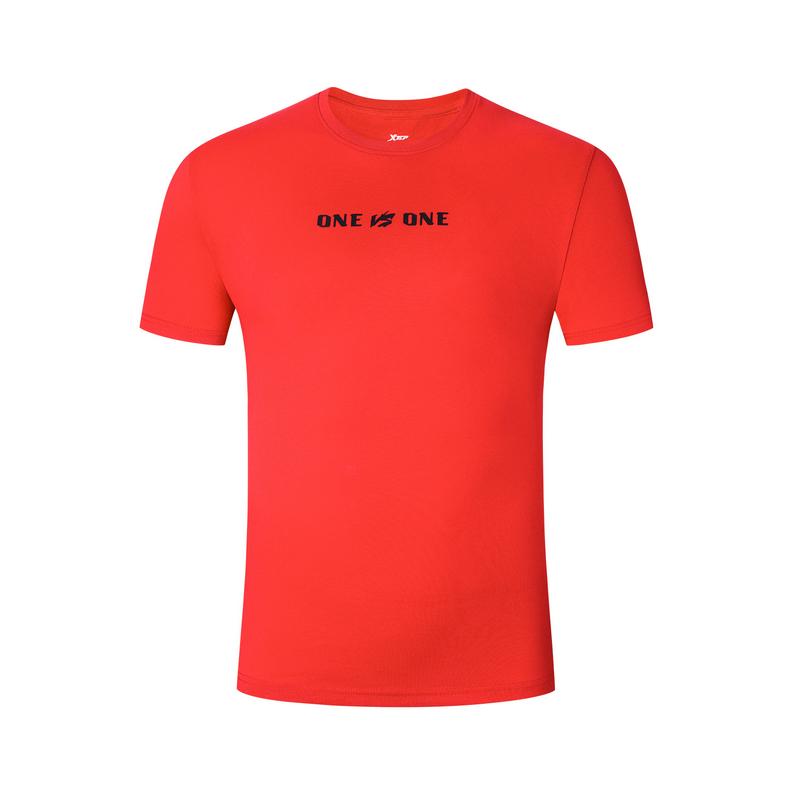 特步 男子短T恤 19夏新款时尚舒适透气篮球服881229019322