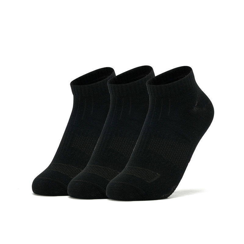 特步 女短袜 19新款透气舒适跑步运动袜三双装881338549023