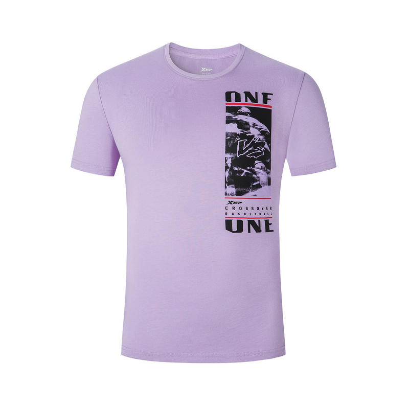 特步 男子短袖 19夏新款休闲简约运动T恤881229019321