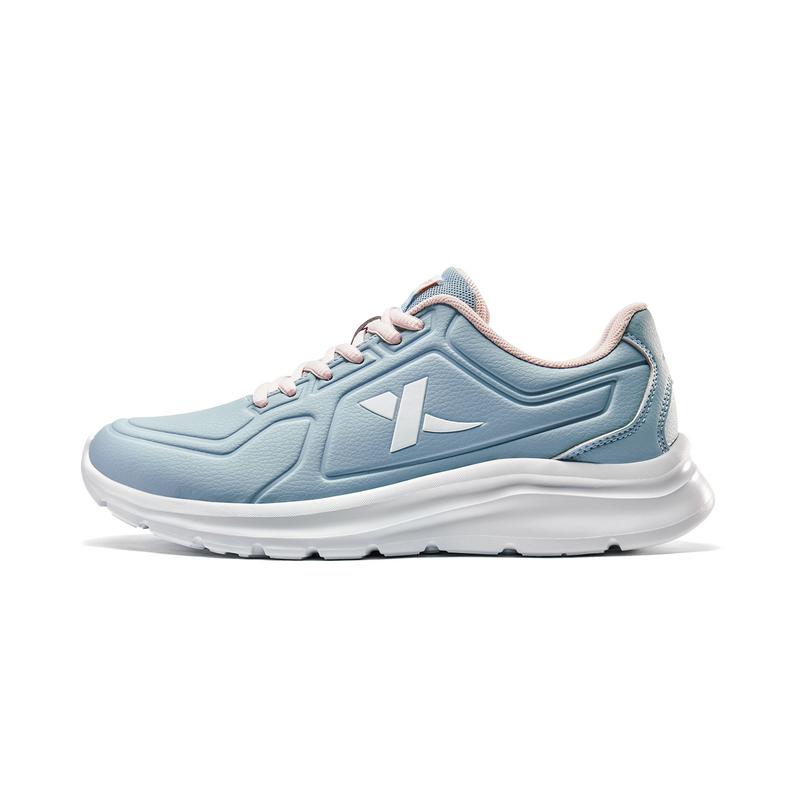 特步 女子跑鞋 19新款时尚革面舒适系带运动鞋881318119078