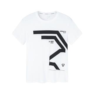 特步 专柜款 男子短袖针织衫 简约时尚T恤981129012471