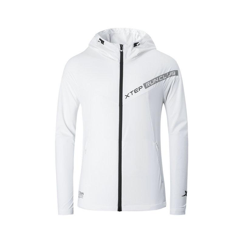 特步 专柜款 男子单风衣 19新款跑步运动拉链外套981129140262