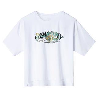特步 专柜款 女子短袖针织衫 时尚印花图案T恤981228012599