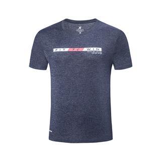 特步 专柜款 男子针织短袖 2019夏季新款休闲圆领针织运动上衣981229012686