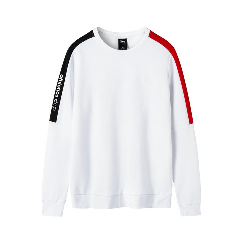 特步 女子基础运动卫衣 秋季新款舒适透气长款卫衣881328059260