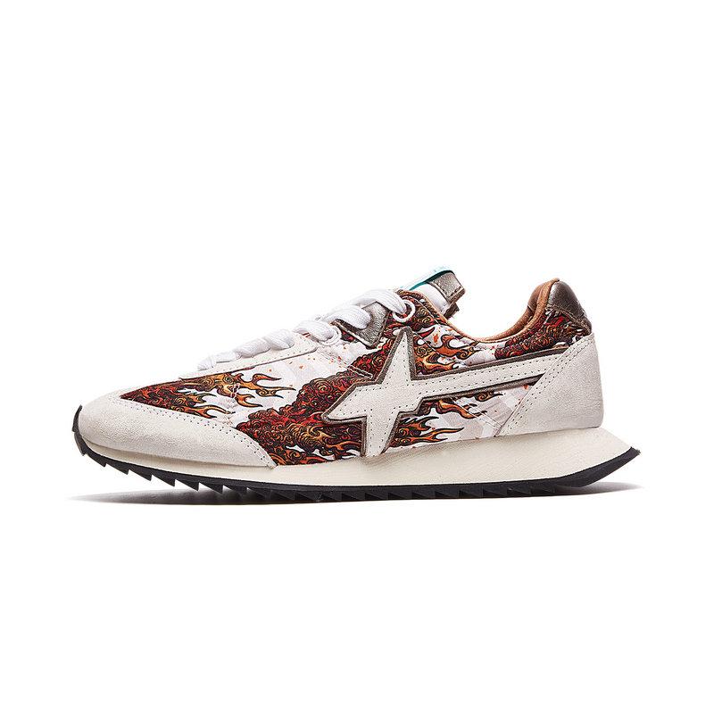 【XX系列】特步 专柜款 女子休闲鞋 19新款W6YZ联名风火设计潮牌鞋981318320257