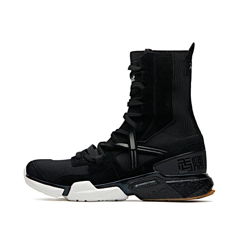 【阿里系列-拳击鞋】特步 专柜款 男子综训鞋 19新款高帮运动长筒袜套鞋981219520859