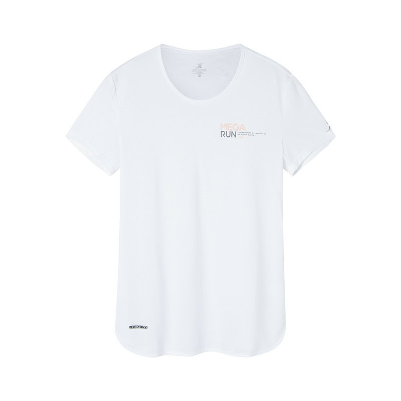 特步 专柜款 女子短袖针织衫 跑步健身透气T恤981228012562