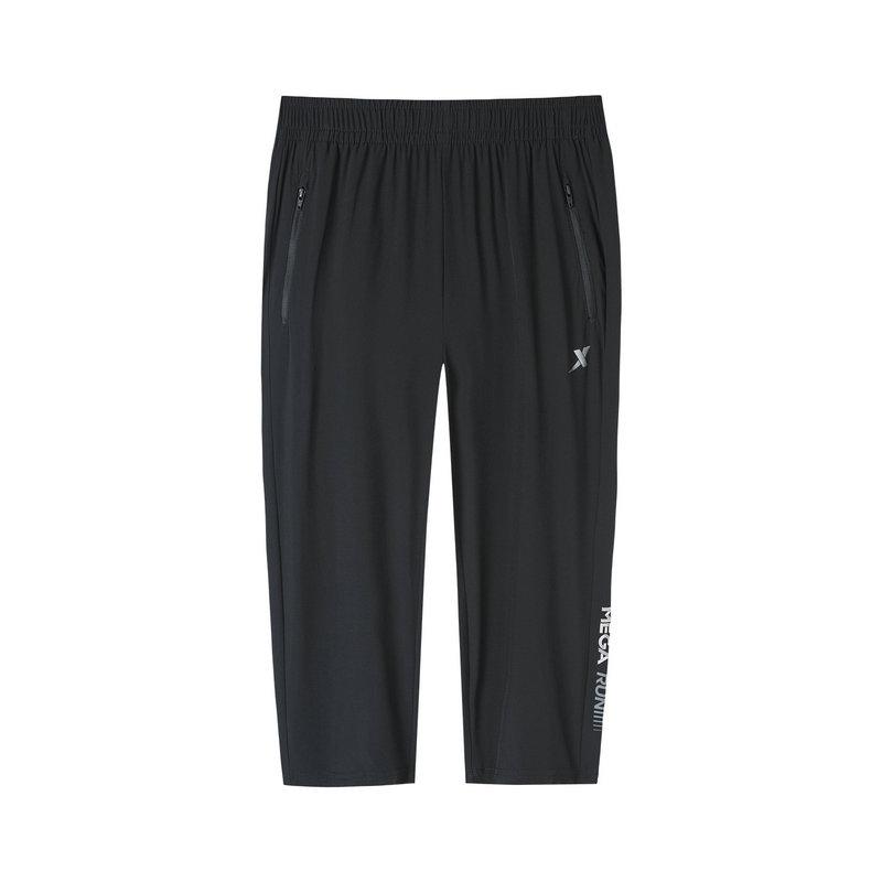 特步 专柜款 女子梭织运动七分裤 19新款透气跑步裤子981228800041