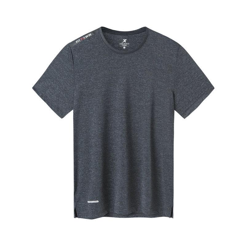 特步 专柜款 男子短袖针织衫 19新款综训运动透气T恤981229012633