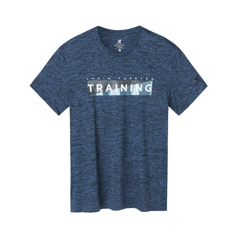 特步 专柜款 男子短袖针织衫 19新款运动跑步T恤981229012647