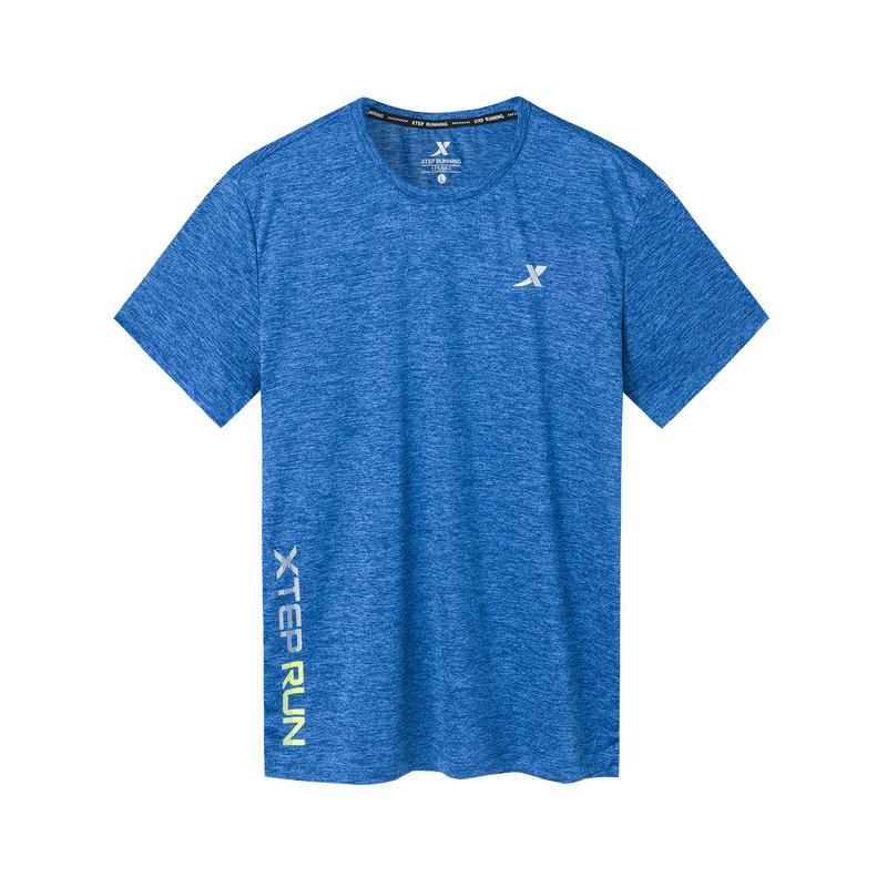 特步 专柜款 男子短袖针织衫 19新款简约透气健身T恤981229012759
