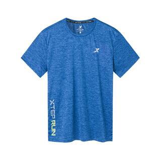 特步 专柜款 男子短袖针织衫 简约透气健身T恤981229012759