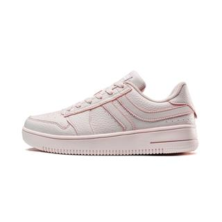 特步 女子板鞋 时尚革面π系列休闲鞋881318319122