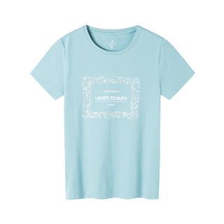 特步 专柜款 女子综训短袖 舒适透气百搭简约运动T恤981328010038